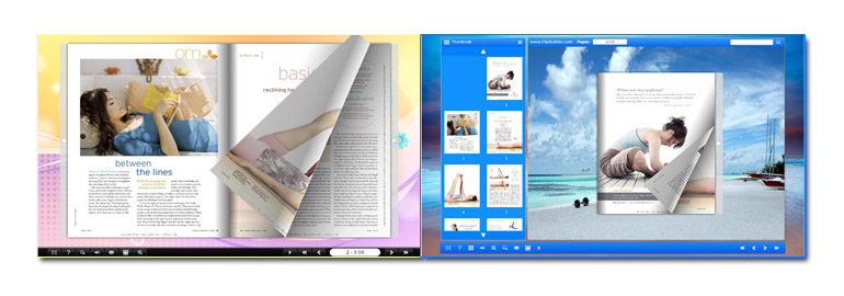 html flip book template - use one flipbook tool to create ten styles of flip book
