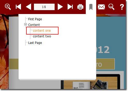 use flipbook bookmark