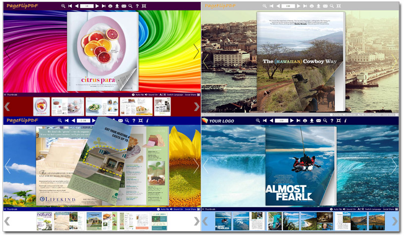 Numerous Types of Free Themes Online Light up Flash Flipping Book Layout