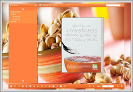 Flip Book Float Template-Food Theme