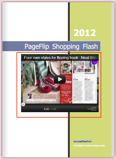 effect of flipping book with YouTube