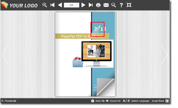 flipping book - mouse tracking effect