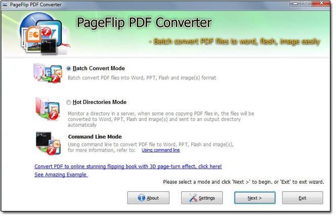 Windows 7 PageFlip PDF Converter(freeware) 1.0 full