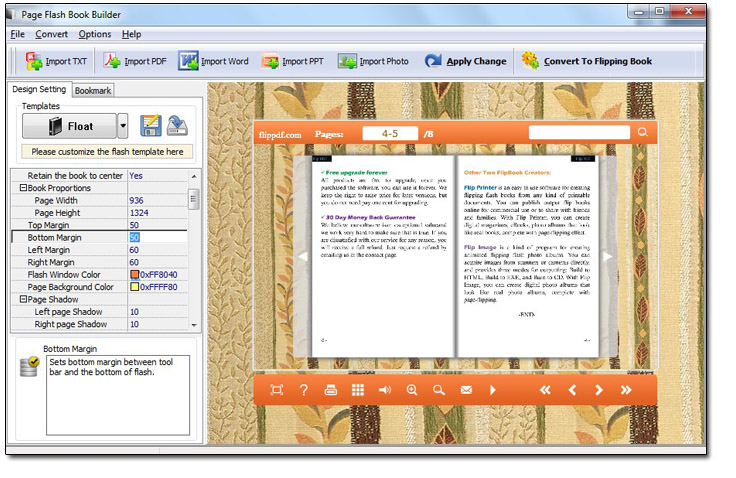 Windows 7 Free Page Flash Book Builder 1.0 full
