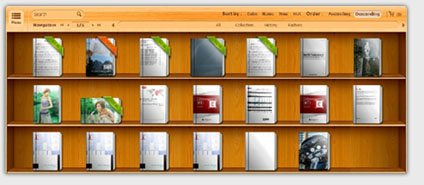 Easy build digital library to show books in flipbook