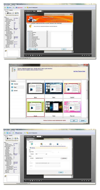 PageFlip Flash Printer full screenshot