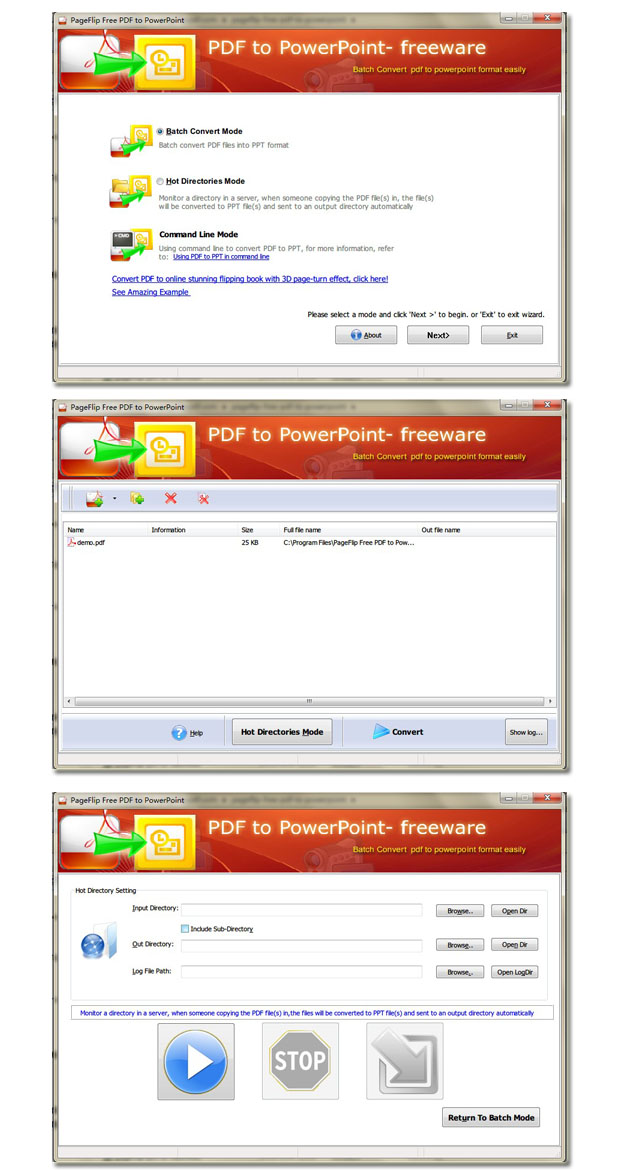 PageFlip Free PDF to PowerPoint - Freeware for converting PDF to
