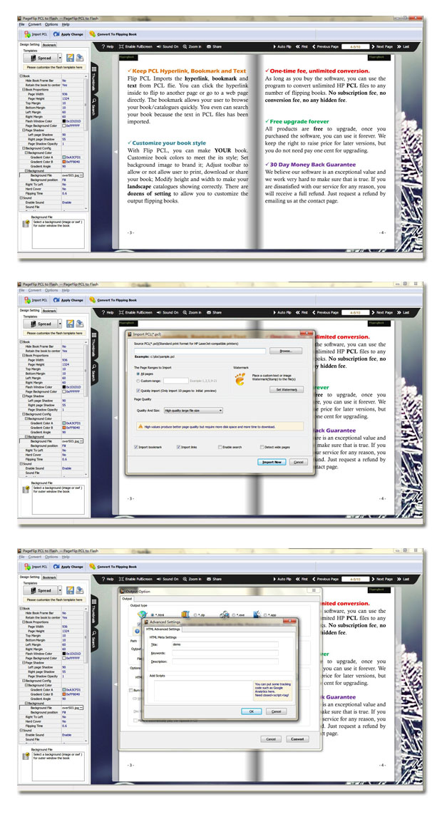 Windows 7 PageFlip PCL to Flash 2.7 full