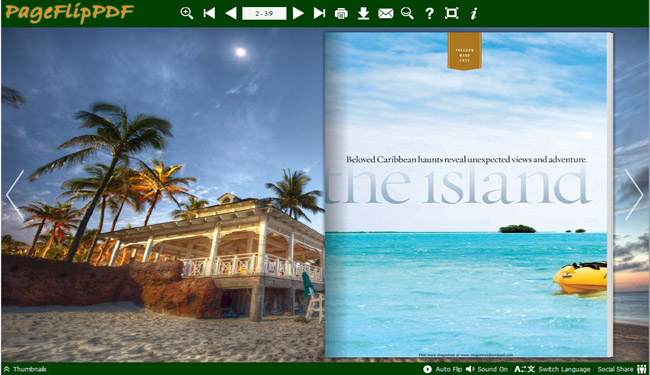 Bahamas Templates for Flipping Book