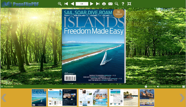 Display flipping book in virtual bookcase! - created with eFlip Standard!