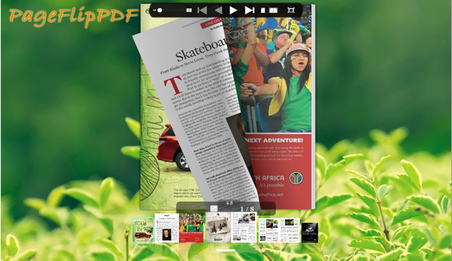 Green Style for Flipping Book Template 1.0 full