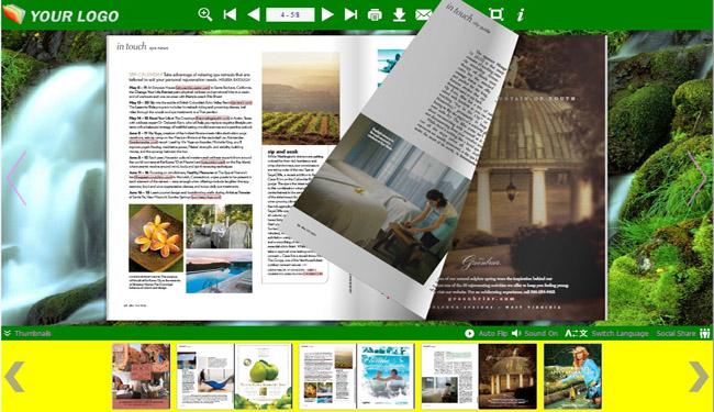 Landscape Templates For Flip Book