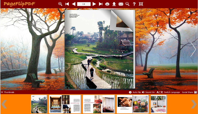 Maple Leaf Theme for Flipping Book 1.0 full