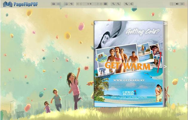 Windows 7 Page Flip Book Templates Childish Style 1.0 full